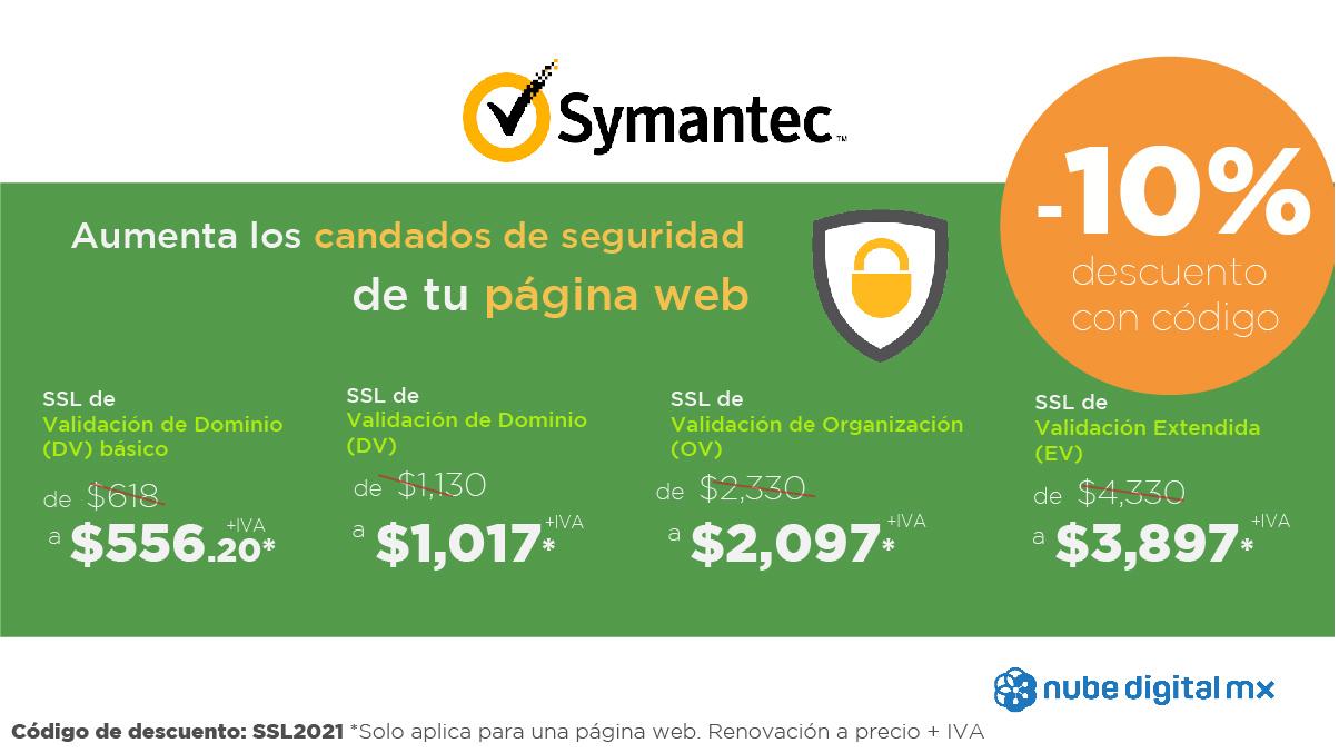 Código de descuento para certificado SSL