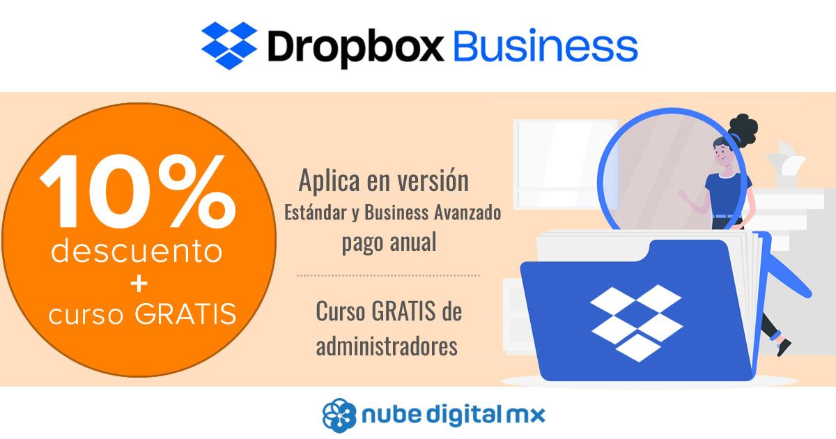 ¡Dropbox Business con 10% de descuento + curso gratis!