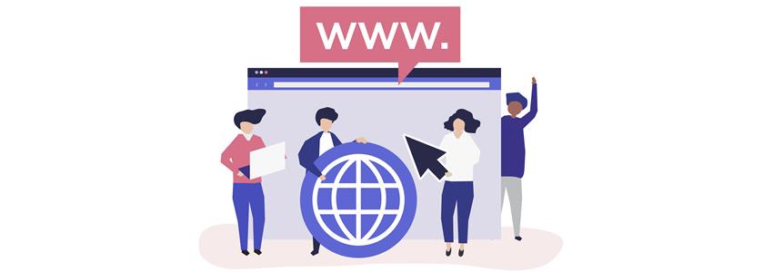 Las extensiones de dominio de página web para servicios de salud