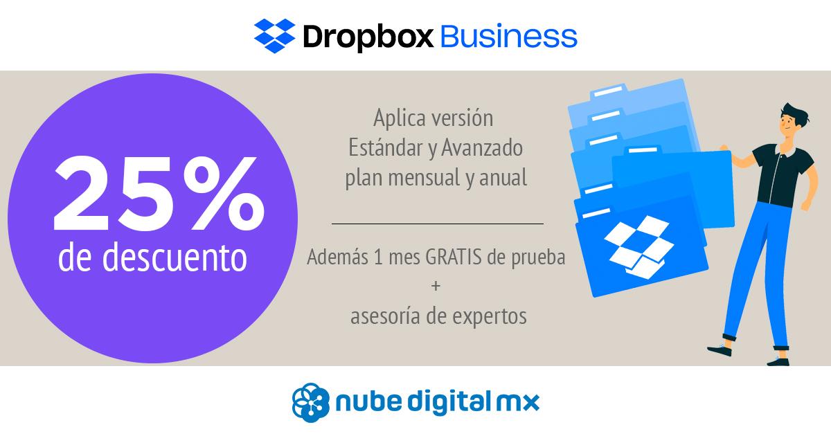 ¡25% de descuento en Dropbox Business para nuevos usuarios!