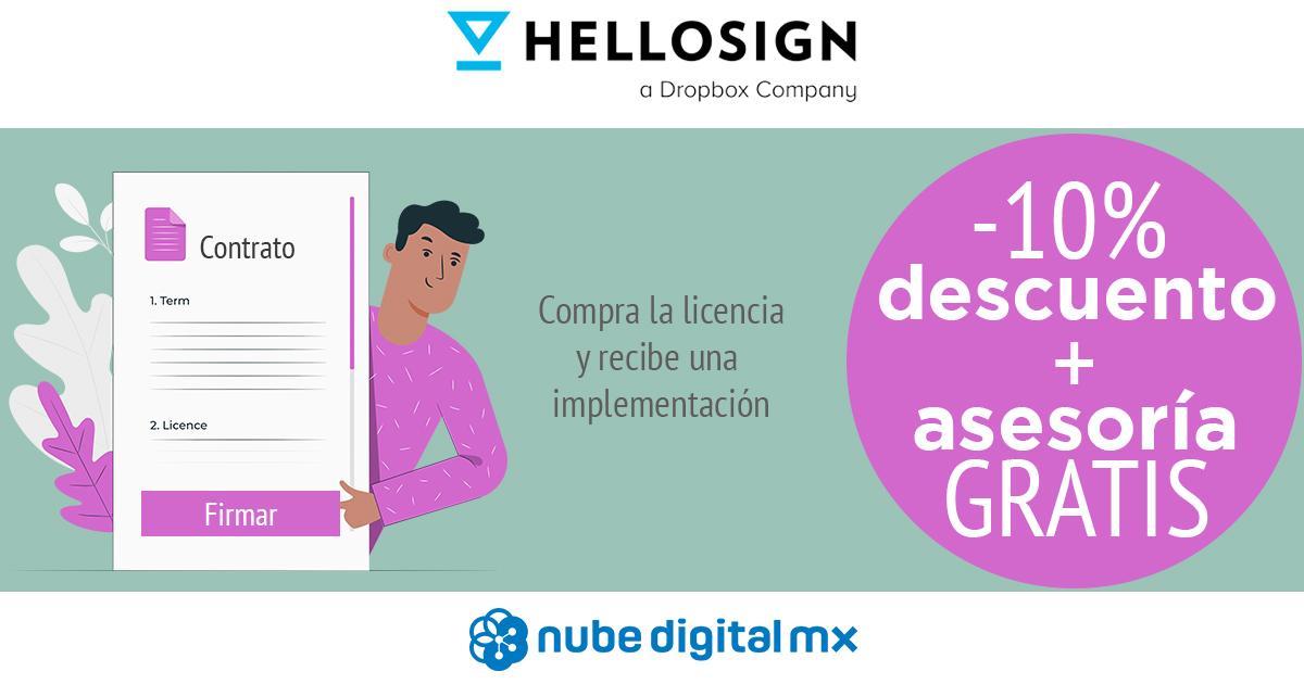 Asesoría gratis y 10% de descuento en HelloSign