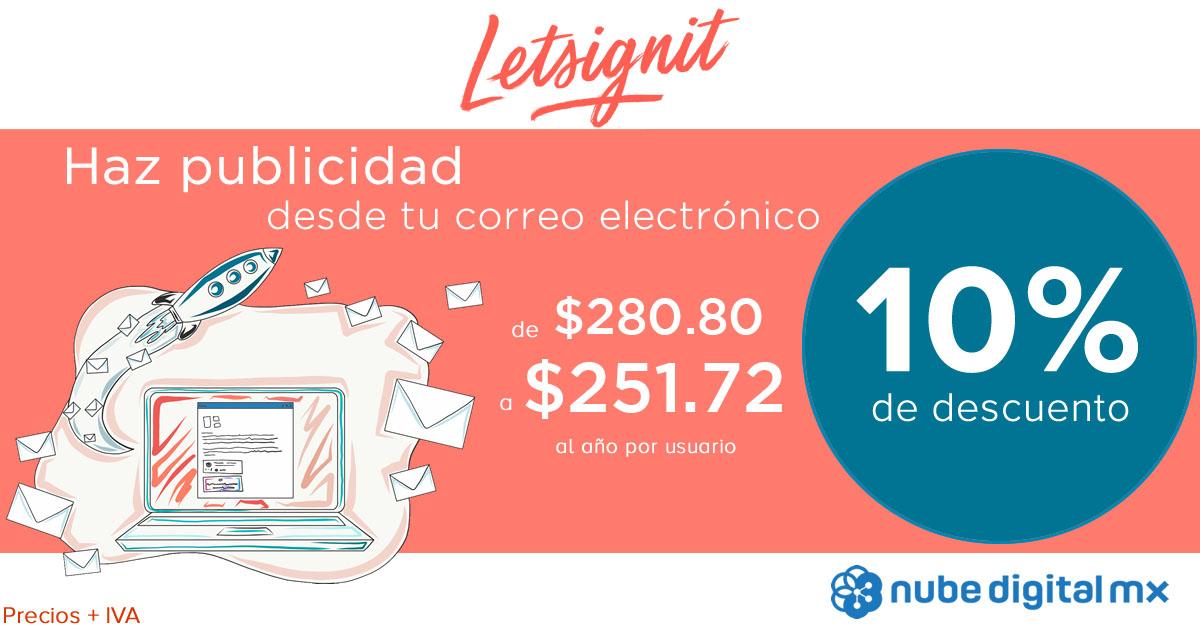 Descuento especial 10% en Letsignit, la firma de correo para empresas