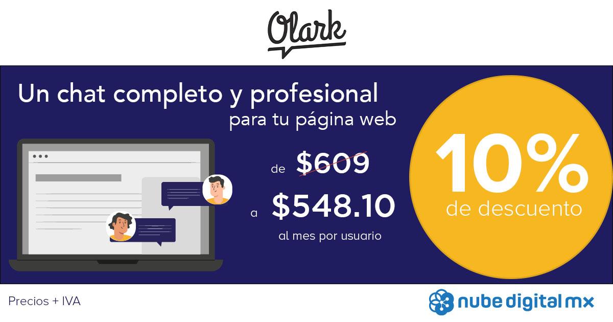 Descuento especial de 10% en Chat Olark para página web