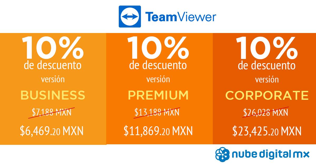 Todos los planes TeamViewer con 10% de descuento