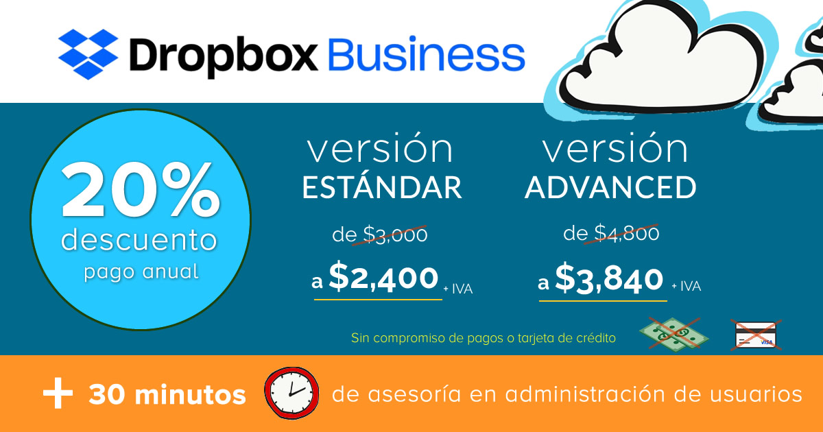 ¡Dropbox Business 1 mes gratis!